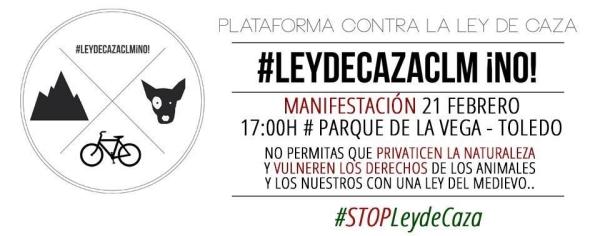 Demonstration in Toledo gegen die Änderung des Jagdgesetzes in Kastilien, La Mancha
